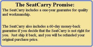 SeatCarry firearms holster warranty promise